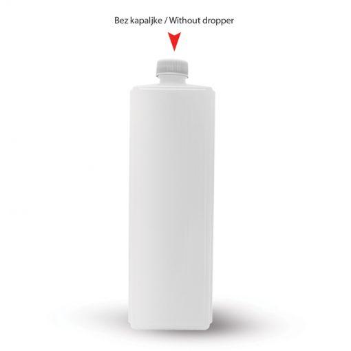 Četvrtasta plastična boca sa sigurnosnim zatvaračem 1000ml (dvodelna)
