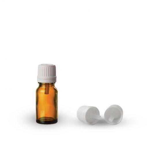 Farmaceutska staklena boca sa pripadajućom kapaljkom i zatvaračem 10ml