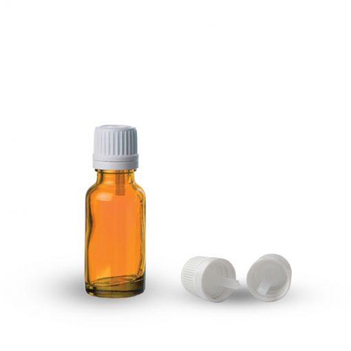 Farmaceutska staklena boca sa pripadajućom kapaljkom i zatvaračem 20ml