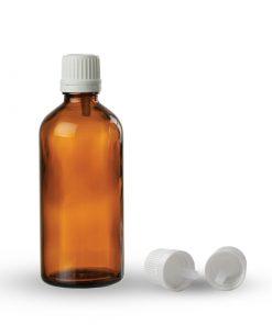 Farmaceutska staklena boca sa pripadajućom kapaljkom i zatvaračem 50ml