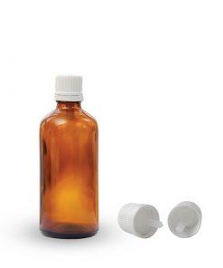 Farmaceutska staklena boca sa pripadajućom kapaljkom i zatvaračem 100ml