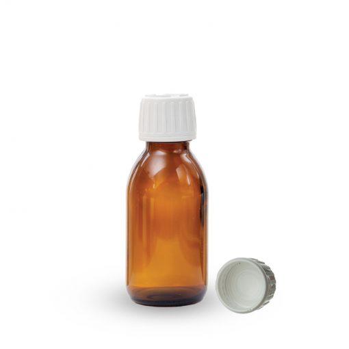 Farmaceutska staklena boca sa pripadajućim zatvaračem 100ml