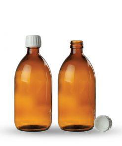 Farmaceutska staklena boca sa pripadajućom kapaljkom i zatvaračem 250ml